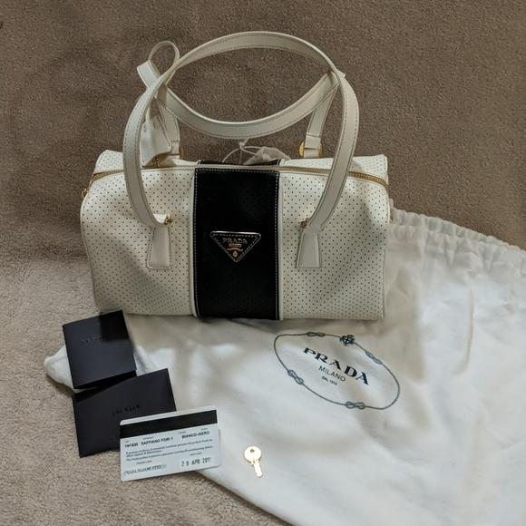 96fbad15744389 Prada Bags | Authentic Perforated Saffiano Fori Bag | Poshmark